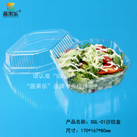 blister disposable transparent salad packaging decoration