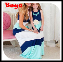 boutique hot sale kids clothes Mommy and me maxi dress mother and daughter dress design kids clothing girls birthday dress