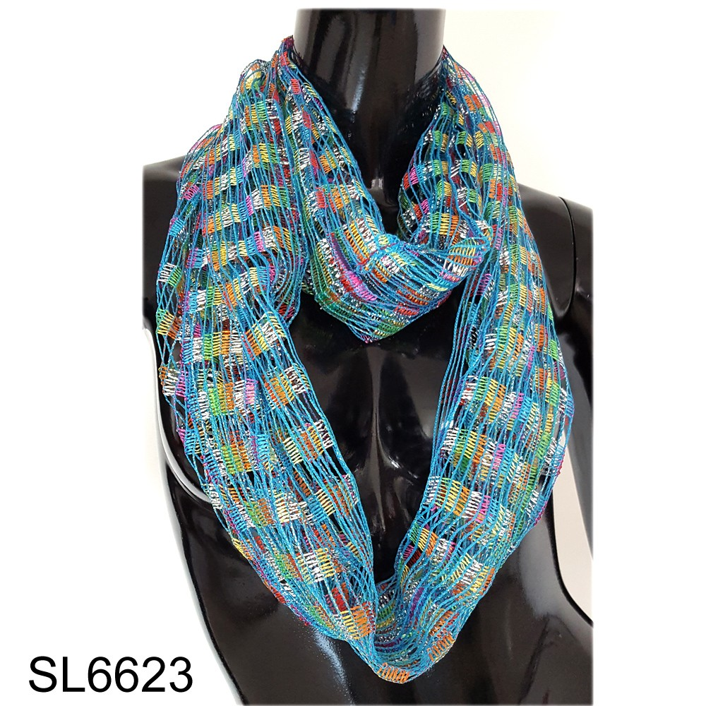 2016 Fashion hot mesh confetti style shining circle scarf