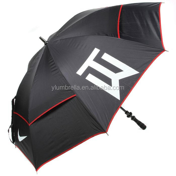 Custom Logo Print Golf Umbrella with Glass fiber shaft and ribs , Lexus Promotional Golf Umbrella