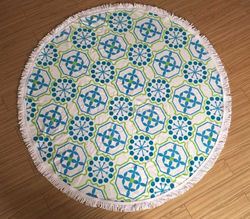 alibaba express stock of mandala round roundie beach towel with low price