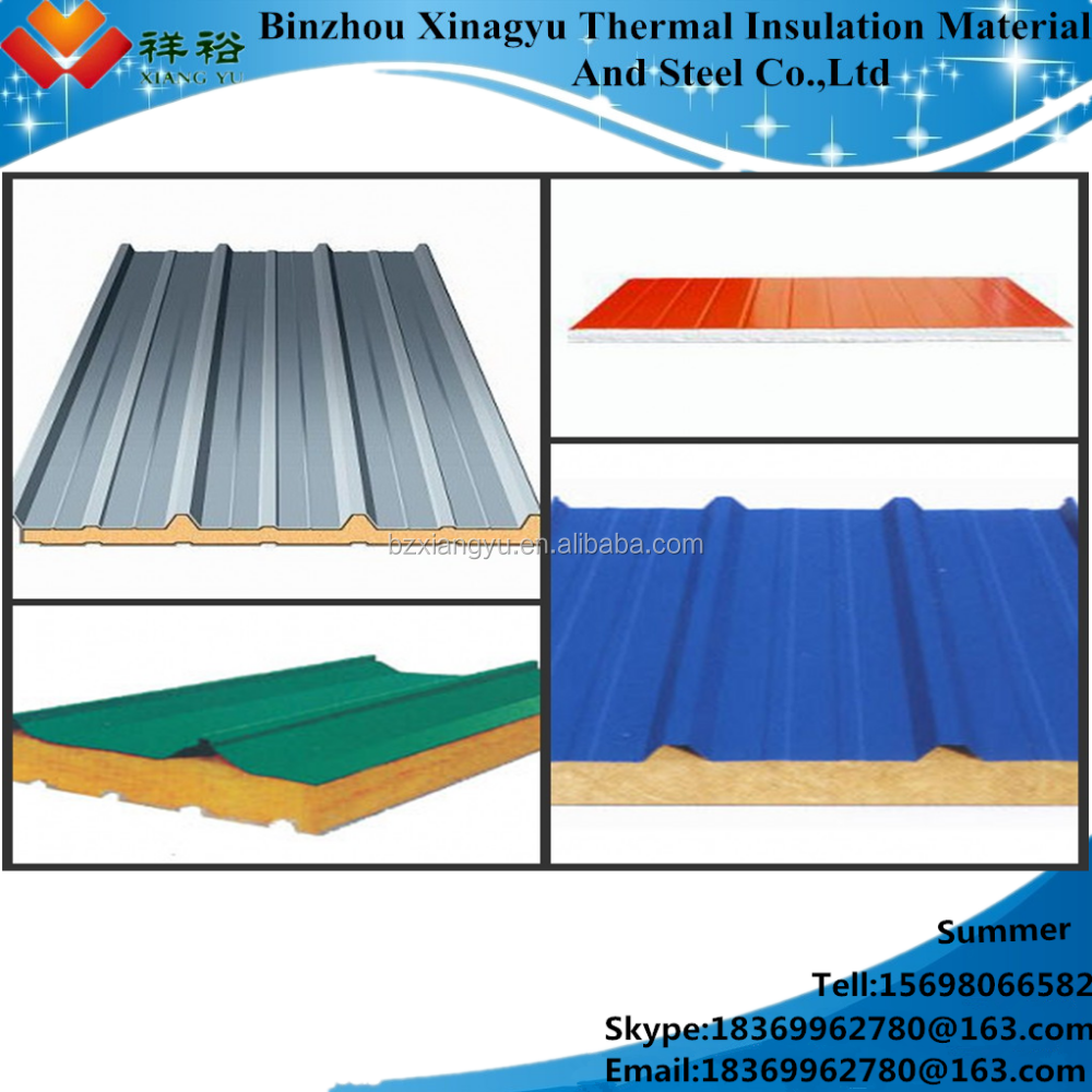 Polyurethane sandwich panel heat insulation fireproof cold room used as wall and roof SIP panel/polyurethane sandwich panel