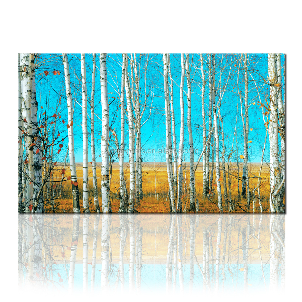 Tree Stretched Canvas Art/Forest Canvas Printing/Dropship Wall Art for Home and Restaurant Decor