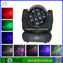 wonderful flower effect 12 pcs 10w dmx led dj lighting 120w moving head beam