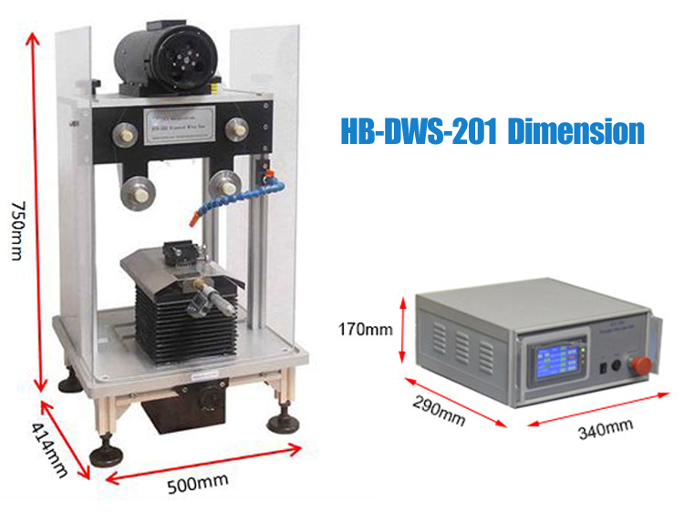 HB-DWS-202 Small Precision Diamond Wire Saw With Digital Control Pannel for Slicing Sample 2 inch Diameter cutting machine