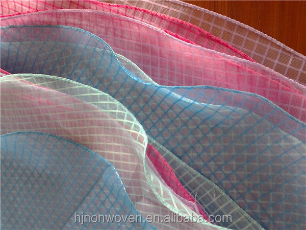 OD120CM Plaid Organza Tablecloth with PVC Sewn Side
