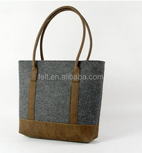 Factory custom handmade handbag wool felt bag for sale