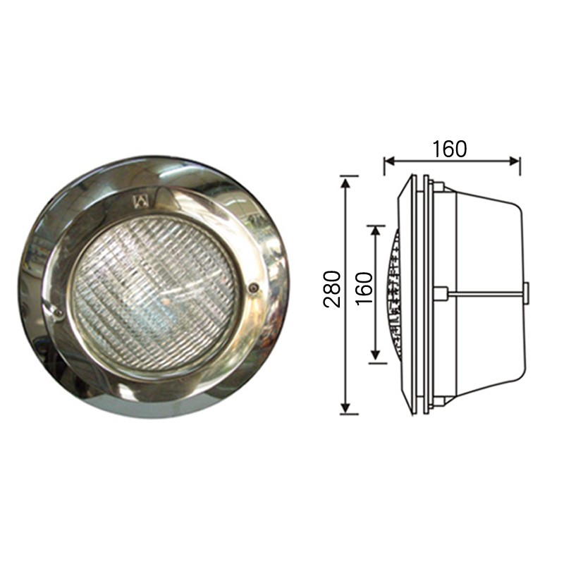 2017 Hot sale stainless steel swimming pool light, embed underwater light with cheaper price