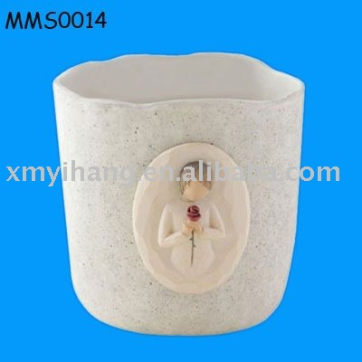 valetine ceramic candle cup