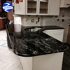 Cheap Indian Cosmic Black Forest Granite Slabs For Sale