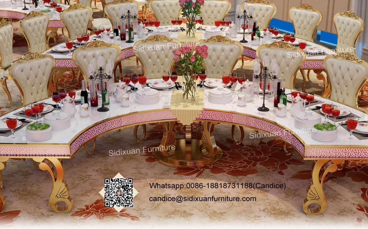 Foshan Hardware Furniture Co Ltdsidixuan Led Wedding Tables