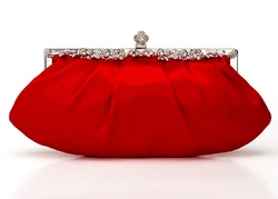Popular Silk Ruffle Evening Bag Clutch Evening Party Bag