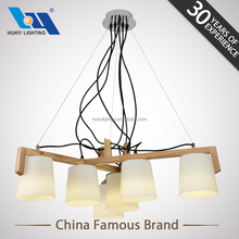 Modern new design style wooden indoor chandelier light