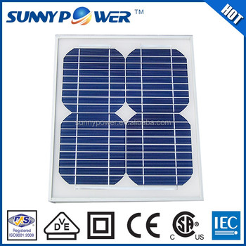 VDE Approved 10w solar panel price made in China