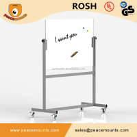 High Quality 8mm Tempered Glass and SPCC School Metting Room Dry Wipe Mobile Magnetic Whiteboard With Markers Pen