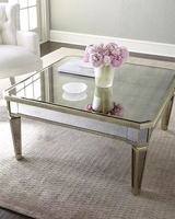 ZhaoHui Modern Design Antique MIrror Glass Tea Coffee Table