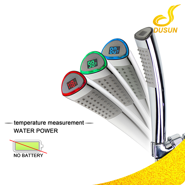 Best selling bathroom ABS plastic water temperature sensor led hand shower head
