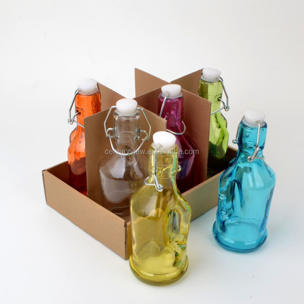 wholesale swing top recycled glass bottles with clip buy