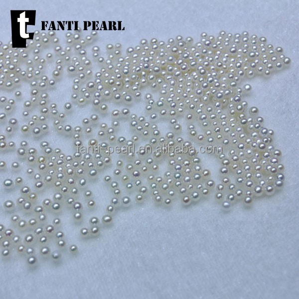 2mm loose natural freshwater pearl/wholesale loose round pearls no holes