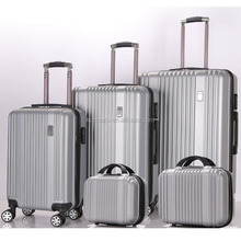 3 pc Hardside Spinner suitcase Set 2 pc hand case TSA Lock wheeled 5pcs ABS PC luggage set