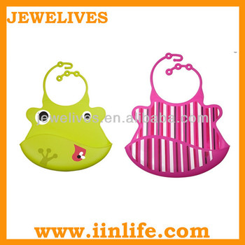 Silicone plain dribble custom adult baby bib