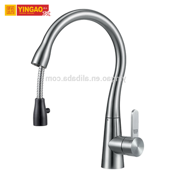 Fashion design 304 Stainless Steel Pull Out Flexible Kitchen Faucet