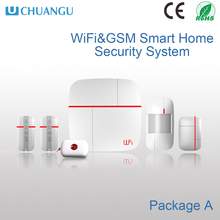 Factory price DIY install simple WIFI&GSM intruder alarm system with Low battery alert for sensors/alarm panel