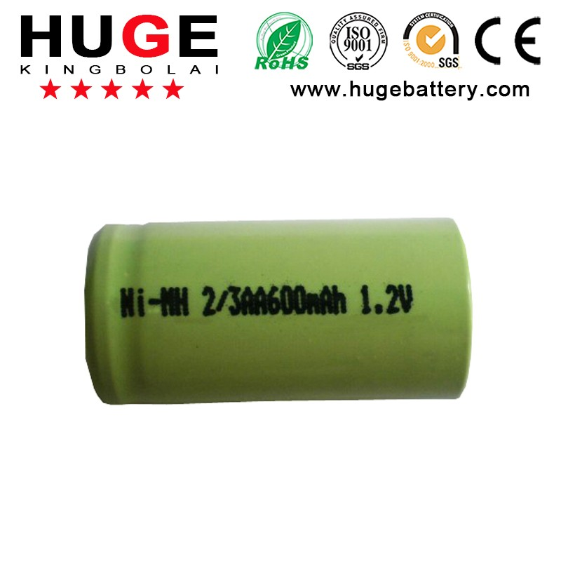 Hot Sale 3.6V Nimh 2/3 AAA 350MAH rechargeable battery
