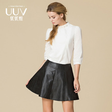 Wholesale Ladies Fashion PU Leather Lady Pu Skirt