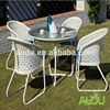 Audu High Quality Dining Table Set,White Rattan High Quality Dining Table Set