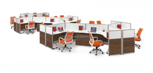 Fashion office partition system/office work partition/aluminum partition office cubicle workstation KBF HY-5025