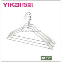 2015 Bulk PVC coat holder/ hanger with wide shoulders trousers bar in silver grey color