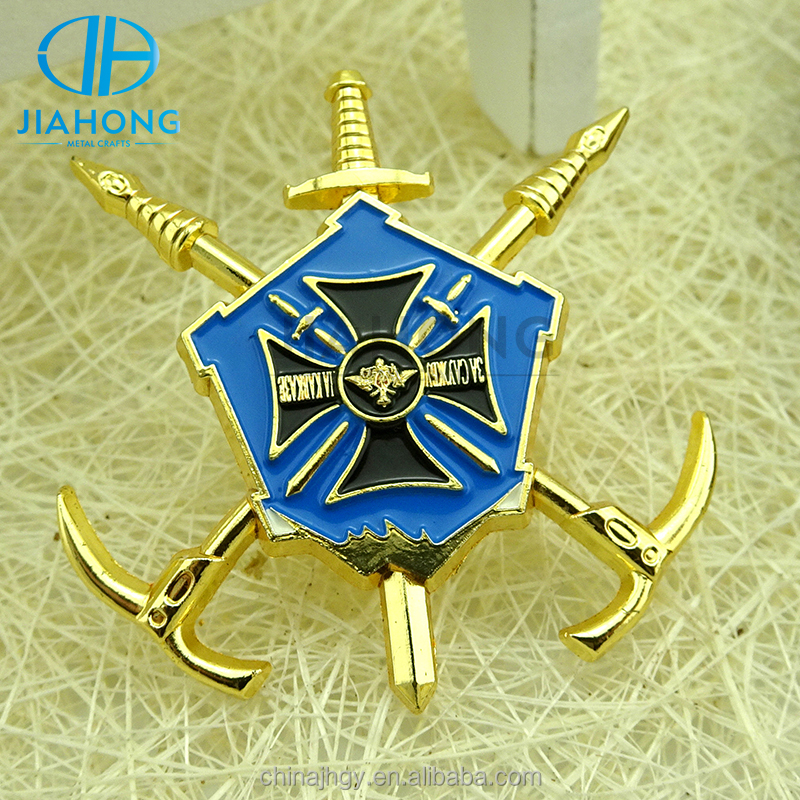 Promotion blank bulk printed metal nautical badge lapel pin souvenirs badge pin