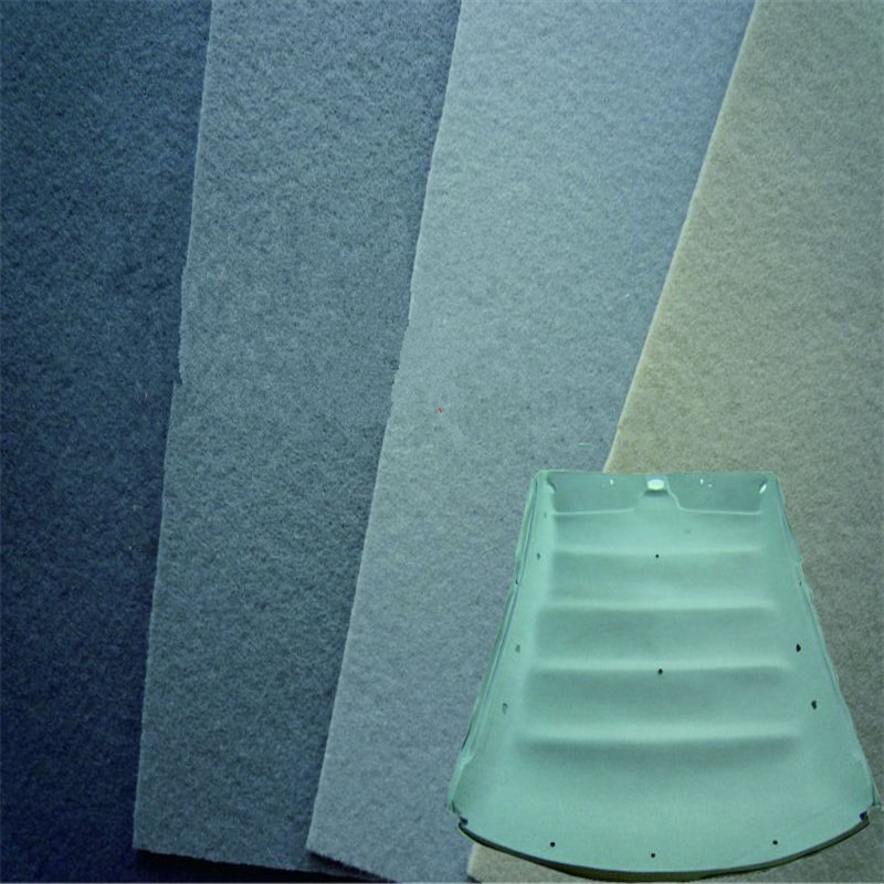 car roof polyest felt/auto headiner fabric/automobile headlining nonwoven/needle punched non woven/fleece