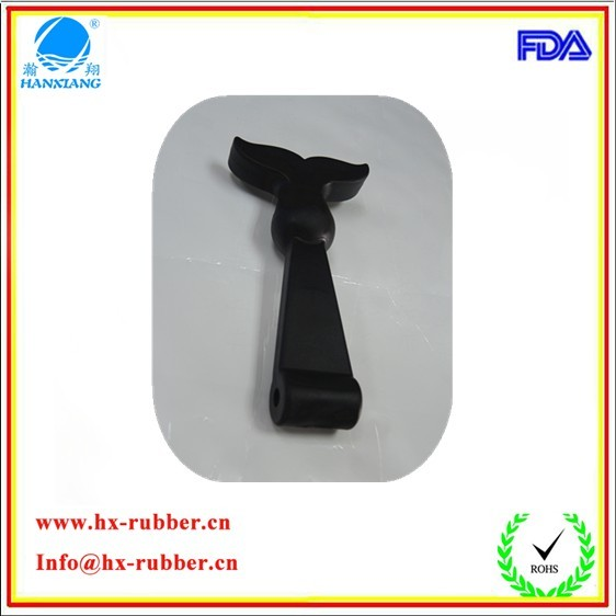 T-handle black rubber toggle latch with stainless
