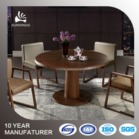 High gloss finishing dining room round wooden dining table