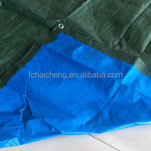 80gsm blue green pe tarpaulin poly tarps cover sheet