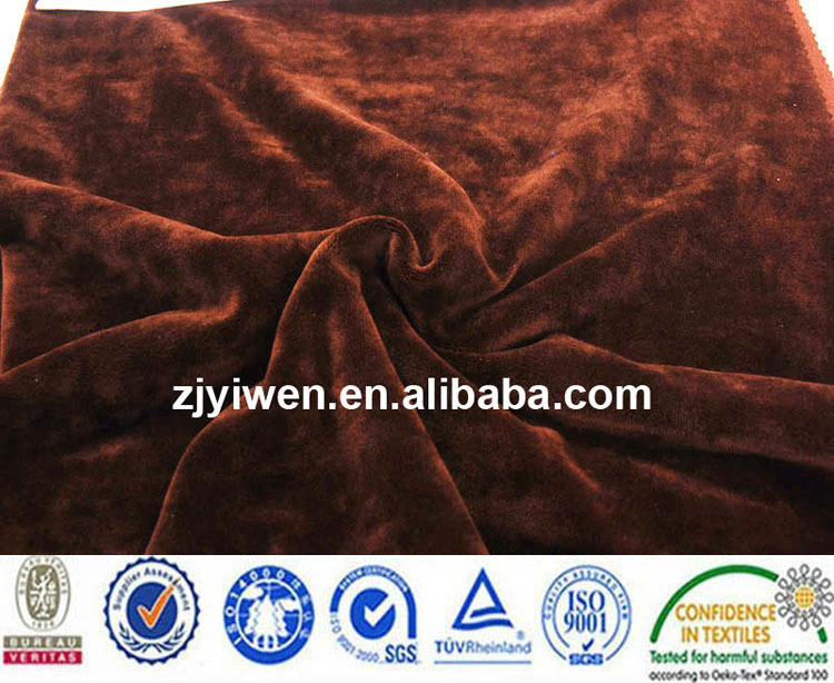 95%polyester 5%spandex velvet 1mm pile height korea velvet 9000 heavy weight 320g for home textile, winter coat interlining
