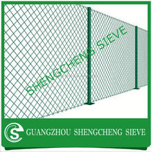 High Green Vinyl PVC Coated Galvanized Chain Link Fence Rolls for Tennis Court Fence