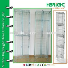 wholesale strong wire mesh 2 door clothing steel locker/wardrobe