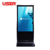55 inch shopping center standalone digital signage player, floor standing LCD advertising display