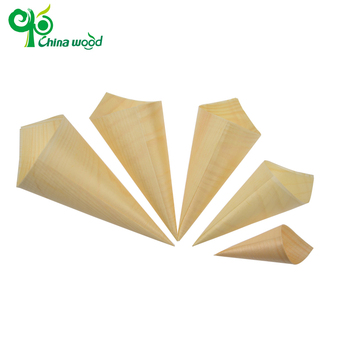 With quality warrantee disposable pine wooden cone