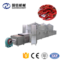 Professional tunnel type red chili dryer/microwave pepper drying machine