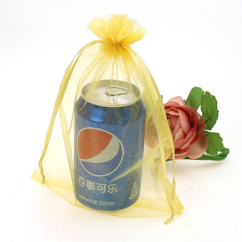 organza gift bags/pouch with logo ribbon