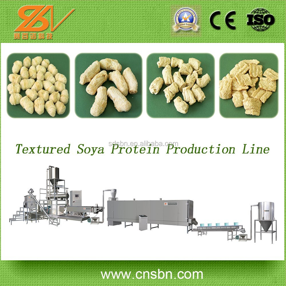 Good price automatic with CE certification 220-400v soya textured vegetable protein machine