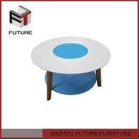 new design MDF coffee table with short leg coffee table