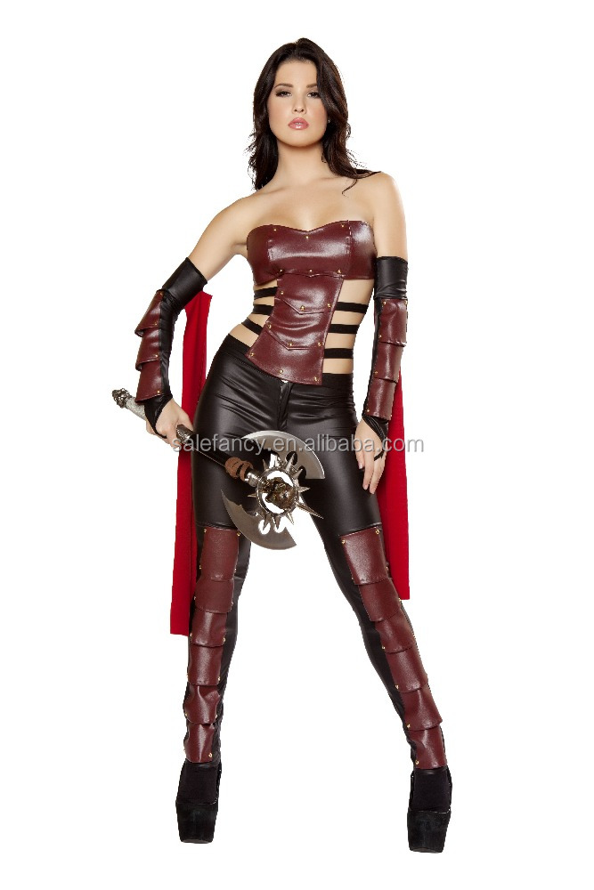 sexy warrior women halloween costumes fancy dress fabric competition pictures QAWC-8263