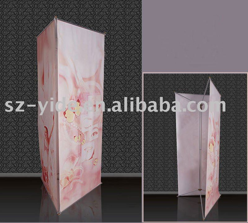 Triple screen banner stand,quick display