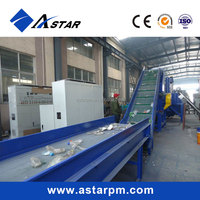 Ce Wasted PE PP Film Pet Bottle/ Flakes Crushing Washing Drying Line/Recycled Granules Making Machine