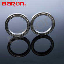Lower noise high rpm pressed ribbon caged ball bearing SS6816ZZ